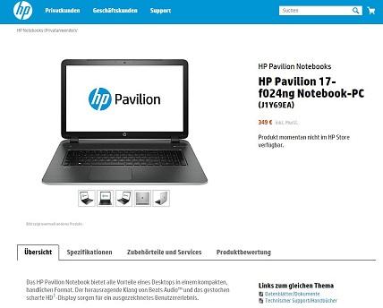 HP 17-f024ng – Einsteiger-Notebook zum Schnäppchenpreis
