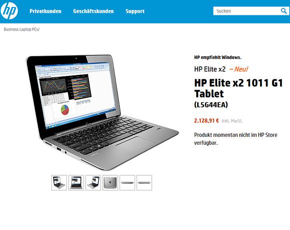 11,6-Zoll-Tablet von HP