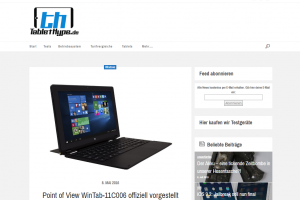 Interessant aufgestellt: Das Windows-10-Tablet von Point Of View