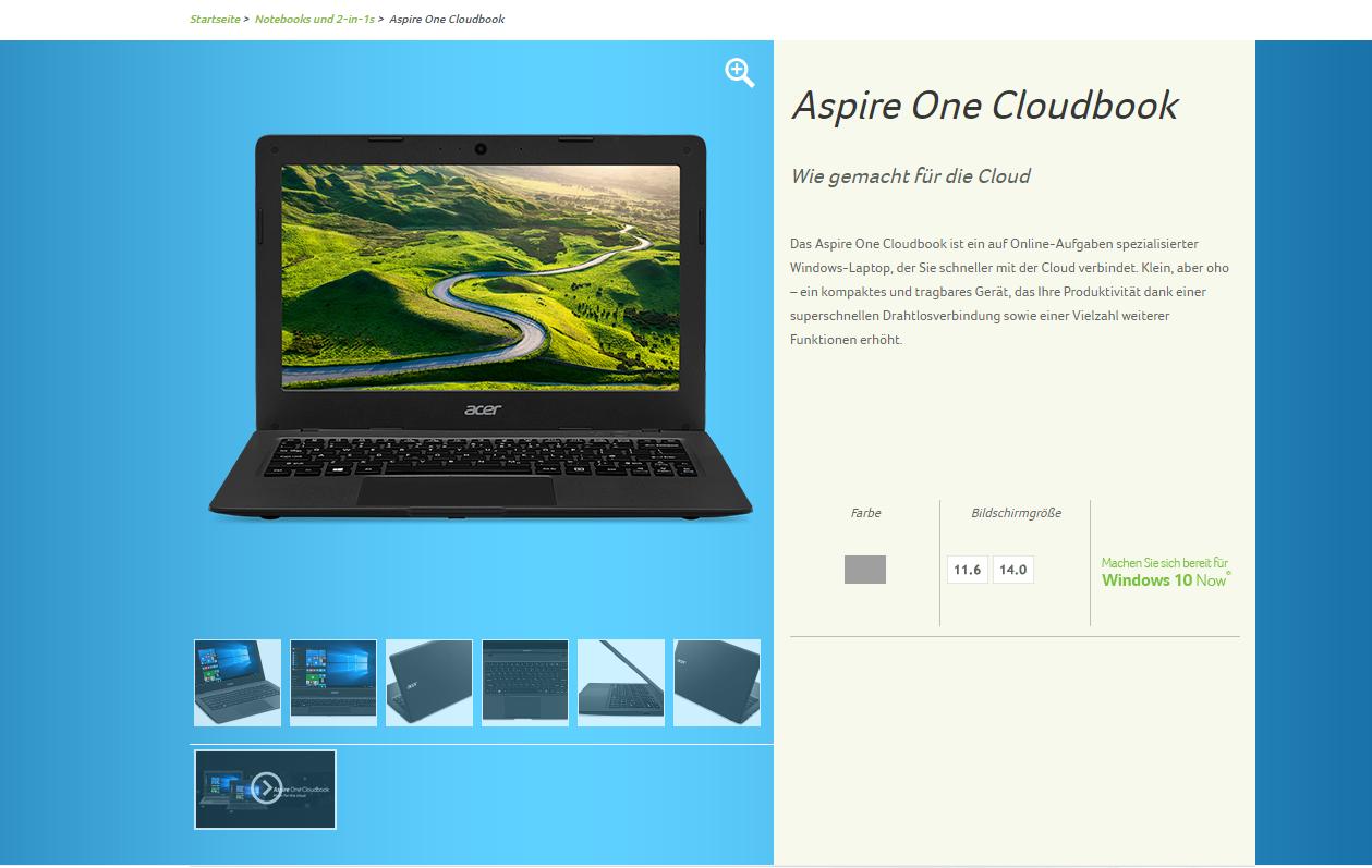 Cloudbook Aspire One 11 AO1-132
