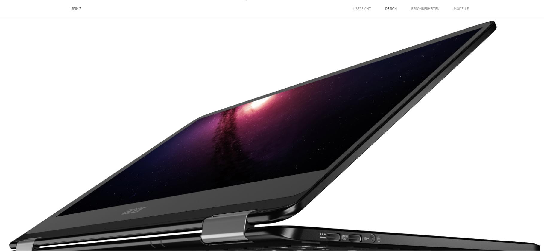 Acer Spin 7 Convertible – IFA Neuheit glänzt mit Design und Performance