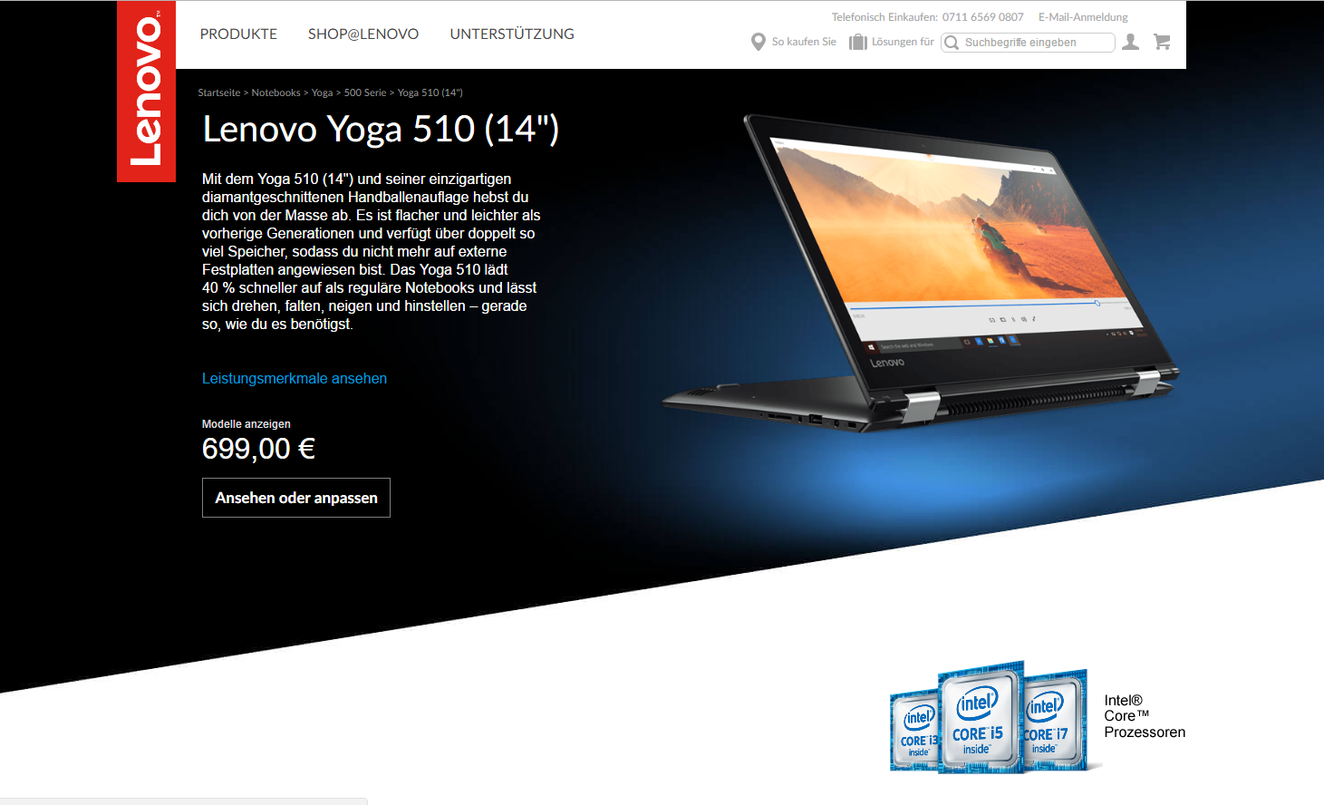 Lenovo Yoga 510: Klein und flexibel