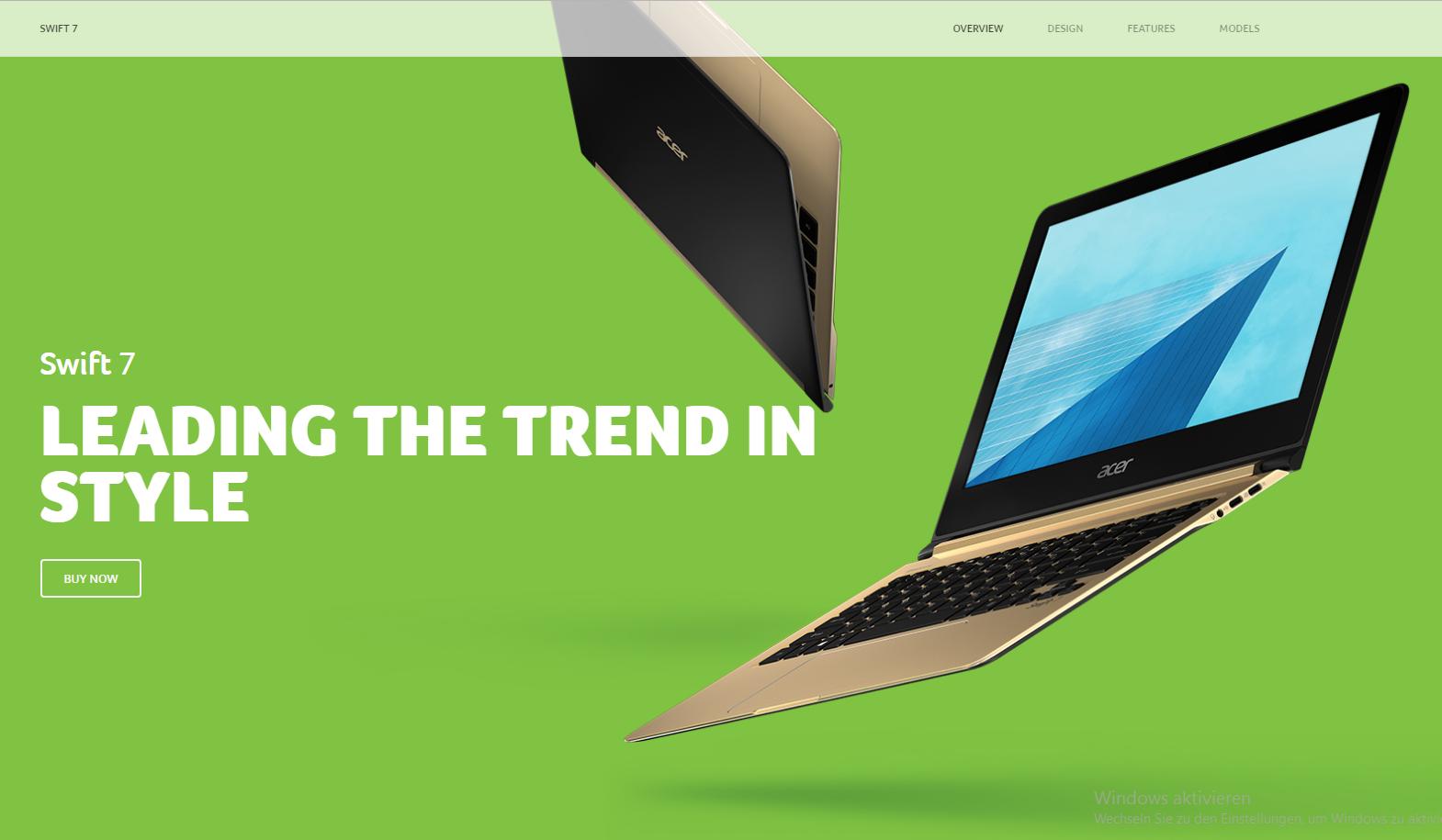Acer Swift 7: Kraftpaket in edlem Design