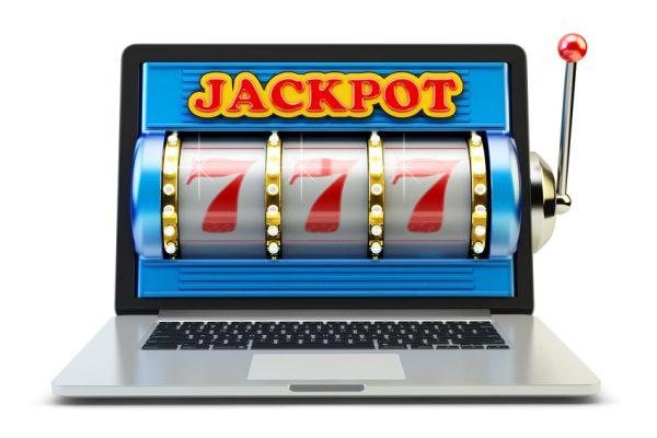 Glücksspiele im Casino auf einem Netbook